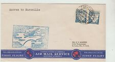 Portugal 1939  1st Flight Cover, Azores to Marseilles, good condition