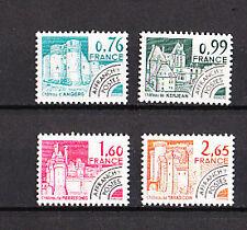 timbre France préoblitéré   monuments     n° 166/69  **