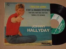 """JOHNNY HALLYDAY -L'Idole Des Jeunes- 7"""" EP 45"""