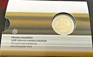 Lithuania Commemorative 2021 Zuvintas Biosphere Reserve BU Coincard 2 euro