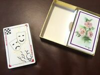 Suncapers Two Decks Playing Cards Box Vintage Floral