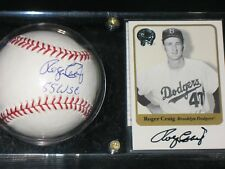 ROGER CRAIG  AUTO  BALL  AND  CARD  COMBO  see description  BROOKLYN DODGERS