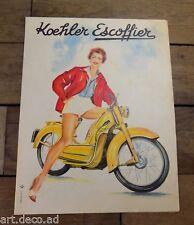 Brochure KOEHLER EXCOFFIER Motocyclette Moto Publicité Prospectus  1950'  - 8j