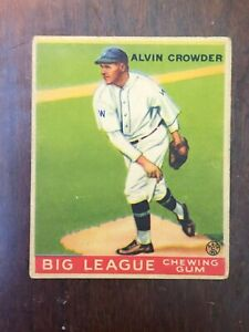 1933 Goudey  #95 Alvin Crowder