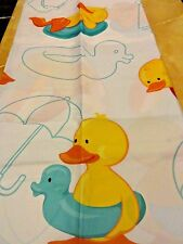 Yellow RUBBER DUCK~Ducky Red Blue Beach Ball SURF BOARDS fabric SHOWER CURTAIN