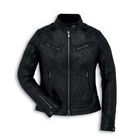 New Ducati Vintage Leather Jacket Women's S Black #987695143