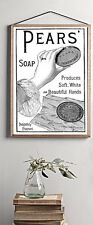 PEARS SOAP REPRINT VINTAGE ADVERT BATHROOM HOME A4 POSTER PRINT WALL HANGING