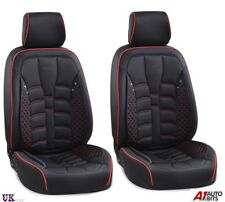 Black Front Seat Covers Fabric & PU Leather For Renault Megane Clio Kadjar