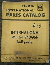 1964 IH International Harvester 340G6H Bullgrader Parts Catalog Manual TE-21C