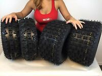 (All 4 Tires) 21x7-10 & 20x10-9 New MASSFX © ATV TIRE SET Yamaha Raptor 660 700
