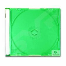 100 Single CD Jewel Case 5.2mm Spine Slim Green Tray New Empty Replacement Cover