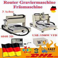 USB 3 Achse 1.5KW VFD Graviermaschine CNC 6040Z Router Graviergerät Fräsmaschine