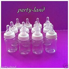 12 Fillable Bottles For Baby Shower Favors White Party Decorations Girl & Boy