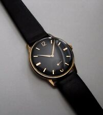 VINTAGE SWISS 17 JEWEL GOLD PLATED MANUAL WIND GENTS WRISTWATCH 1950S