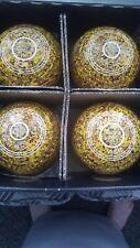 Taylor Ace bowls x4, size 3 (yellow multicolour)