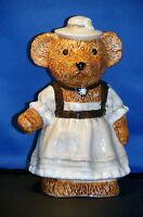 Teddy - Bär - Keramik - Dekoration - Figur: Frau