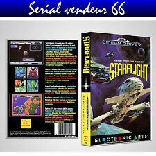 "BOX, CASE ""STARFLIGHT"". MEGADRIVE. BOX + COVER PRINTED. NO GAME. MULTILINGUAL."