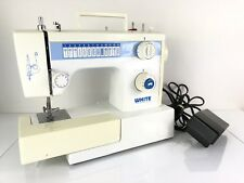 Heavy Duty White Sewing Machine Model 1418 Leather Upholstery Denim