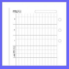 Filofax Pocket Size Finances Diary Paper 20 Sheets Refill Insert 210618