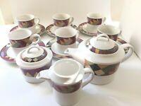 Set 15 Studio Nova PALM DESERT Y2216 Tea Cups Saucers Creamer Sugar bowl Teapot
