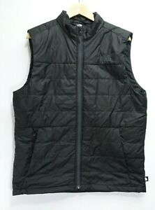 The North Face Mens Athletic Black Insulated Polyester Fill Hiking Jacket Vest M