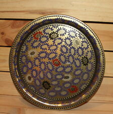 Floral tin tole serving tray