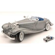 MERCEDES 500 K TYPE 1936 SILVER 1:18 Maisto Auto d'Epoca Die Cast Modellino