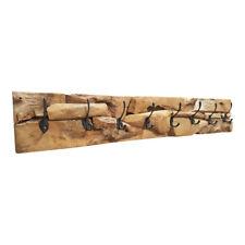 dasmöbelwerk Teak Holz Garderobe Hakenleiste massiv Wandpaneel Vintage 8 Haken