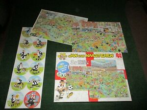 Jan van Haasteren FOOTBALL CRAZY  3 x Puzzles  500, 750 and 1000 ~  + Coasters