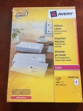 NEW GENUINE AVERY L7163-100 ADDRESS LABELS PACK FOR LASER PRINTER - 100 SHEETS