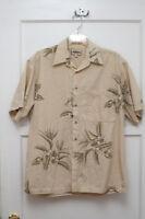 Hawaiian Style Shirt - Plumeria and Birds of Paradise - Sz M