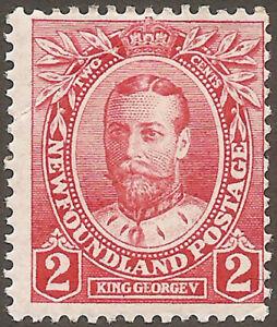 CANADA NEWFOUNDLAND 1911 2c George V (SG 118) MH
