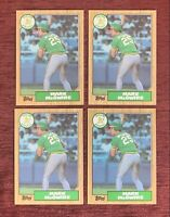Lot of (4) 1987 Topps MARK McGWIRE Rookie Card #366 RC Oakland A's🔥