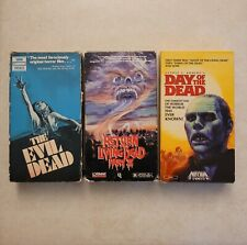 Horror Vhs Tapes Lot - Evil Dead Return Of The Living Dead 2 Day Of The Dead