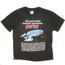 1994 Hanes Beefy T Shirt All I Need To Know About Life I Learned From Star Trek