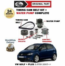 Per VW GOLF + PLUS 2.0 TDI 2007 - > Timing Cam Belt KIT TENSIONATORE + POMPA ACQUA
