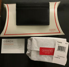 COACH FS4664 Compact Slim ID Credit Card Case Wallet -Black