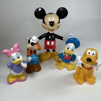 Disney Mickey Mouse & Friends Vinyl Figures Bundle Donald Daisy Duck Goofy Pluto