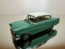 MINICHAMPS OPEL REKORD A - GREEN + WHITE 1:43 - GOOD CONDITION