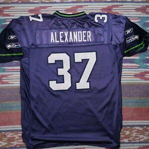 Reebok Seattle Seahawks Shaun Alexander Jersey Adult XL Blue Football NFL Mens