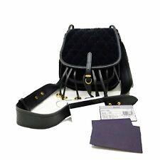 94fe1c86ad5b PRADA Velluto Impuntu Bandoliera Quilted Black Velvet Handbag 1BH059