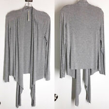 Anthropologie Twelfth Street CYNTHIA VINCENT Gray Knit Waterfall Cardigan Size M