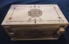 Secret Lock Box Puzzle box with Mandala laser artork