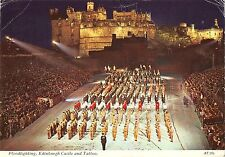 BR91279 floodlighting edinburgh castle and tattoo military militaria  scotland