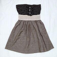 $5 Dress Strapless Sundress Polka Dot Black White Grey