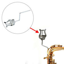 Plating Marching Clamp-on Lyre Sheet Music Stand Saxophone Instrument Holder H