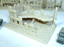 Unpainted resin office building ruin for 6mm wargames, 1/300th and 1/285th scale