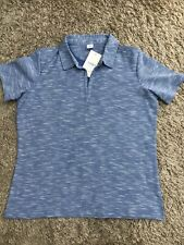 NEW WOMENS COTTON TRADERS BLUE SHORT SLEEVE POLO T-SHIRT UK SIZE 16 RRP £28