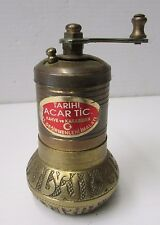 Vintage Brass Tarihi Acar Tic Kahve ve Karabiber Pepper Grinder