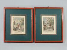 PAIRE D'ANCIENNES GRAVURES ENCADREES, J.E. Ridinger, équitation,  cheval